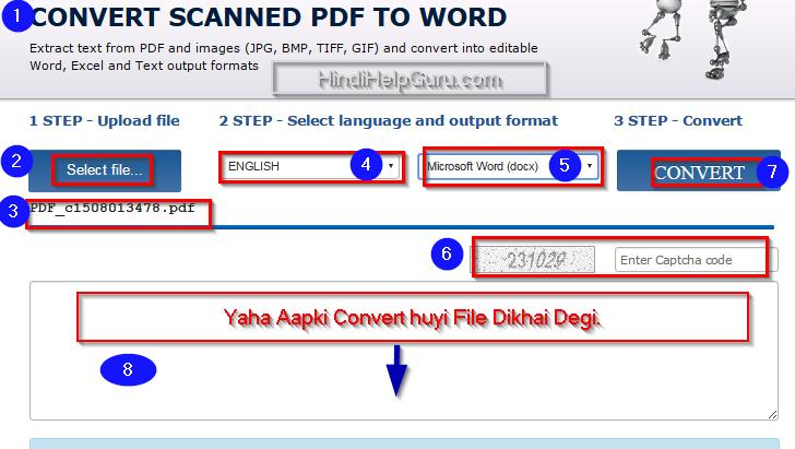 tiff to word document