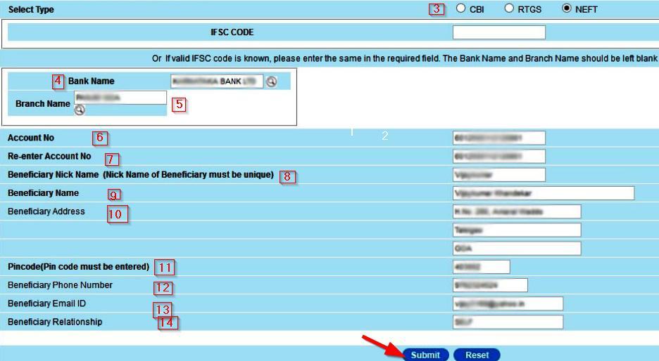 internet banking of cbi