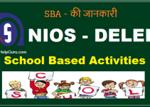 school based activities for nios deled