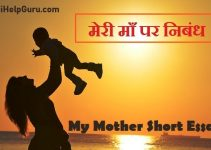 my Mother essay hindi